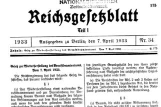 7 Aprile 1933 – Legge per il rinnovo dell'Amministrazione Pubblica.