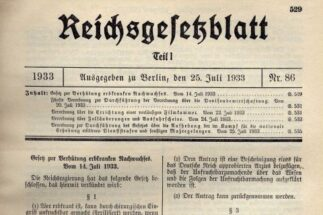 14 Luglio 1933 – Legge per la protezione dei caratteri ereditari