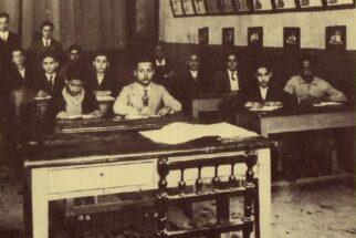 Una lezione si tiene nella scuola della sinagoga di Bengasi, prima della seconda guerra mondiale.